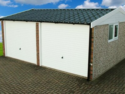 GSG Double Doored Apex 90 Concrete Garages