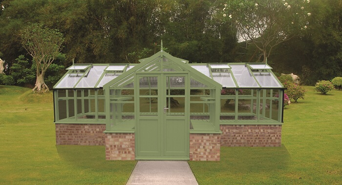 The Swan Timber Greenhouse by GSG Buildings Ltd