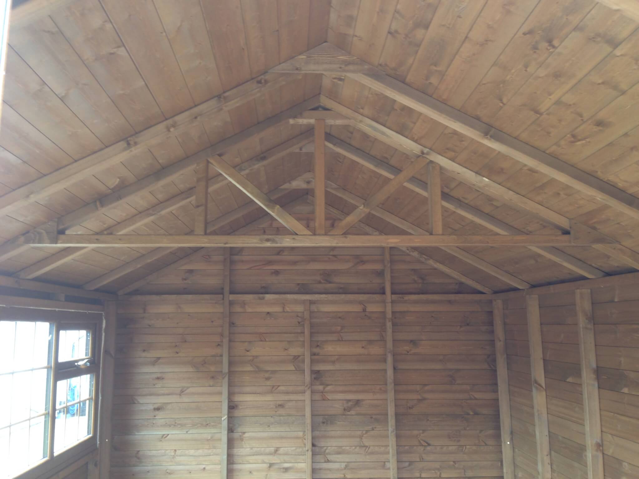 Garden Shed Internal timber roof apex