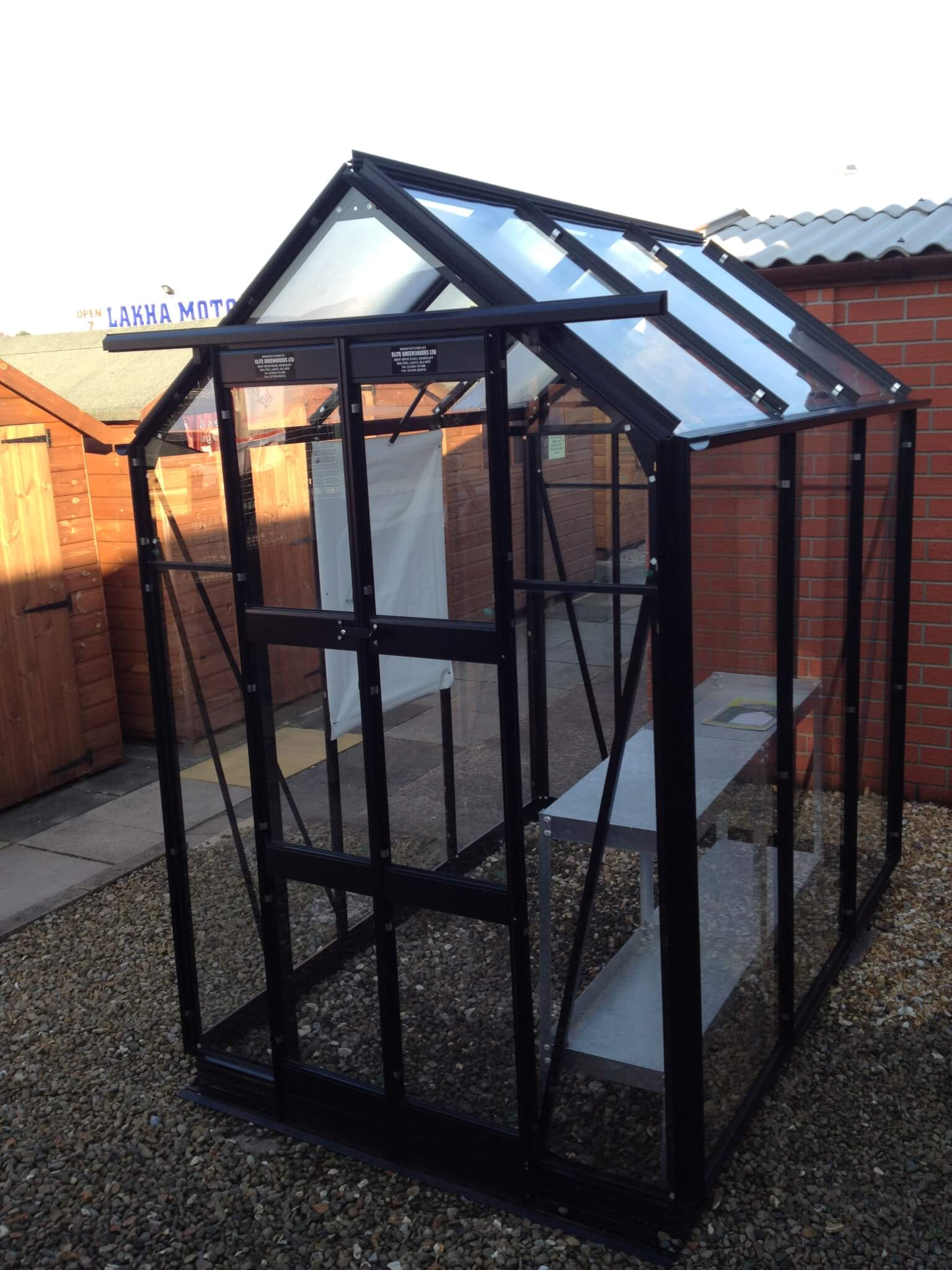 Black Aluminium Greenhouse