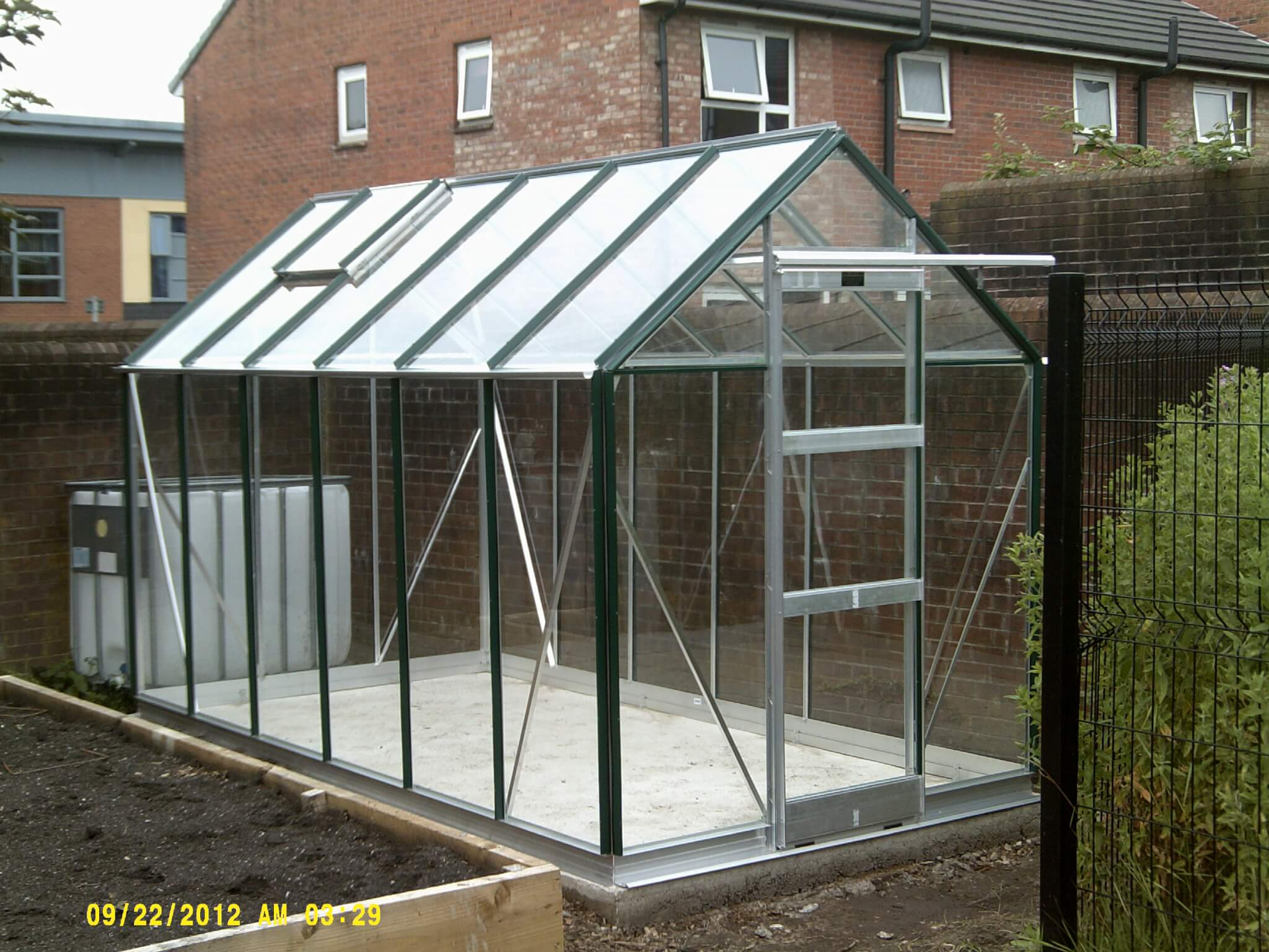 newly installed greenhouse