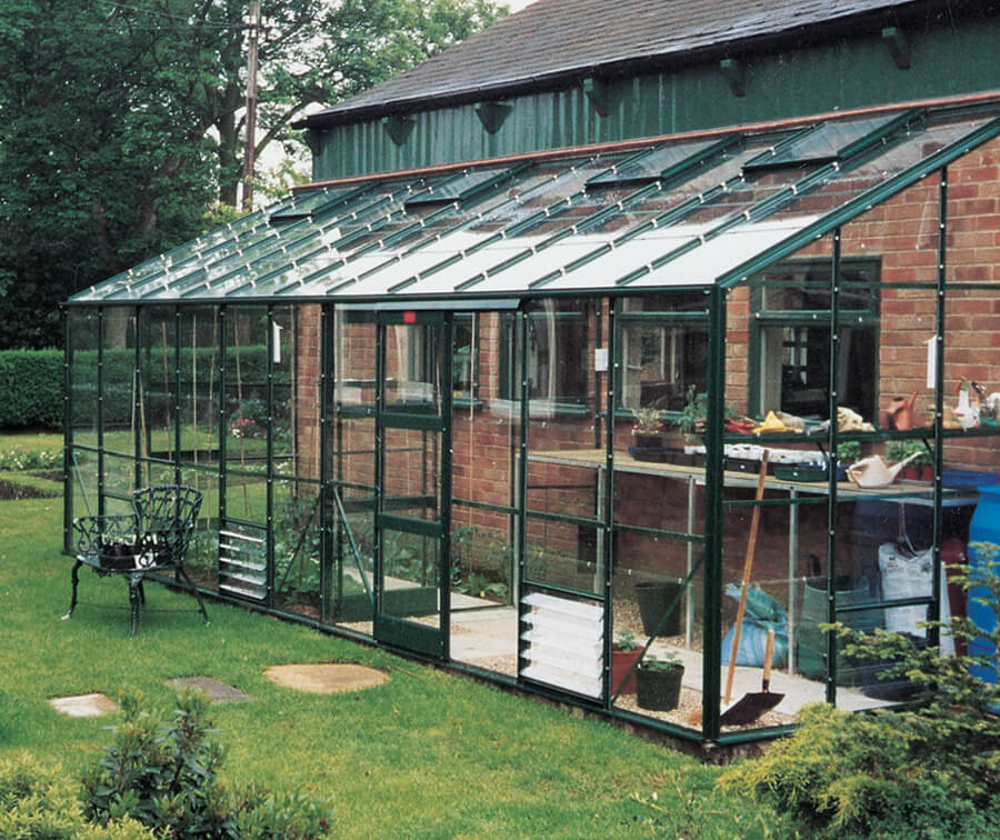 Aluminium Lean to Kensington Greenhouse