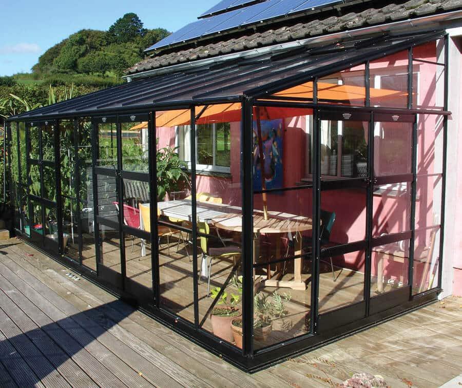 Extra Large Kensington Lean-To Greenhouse