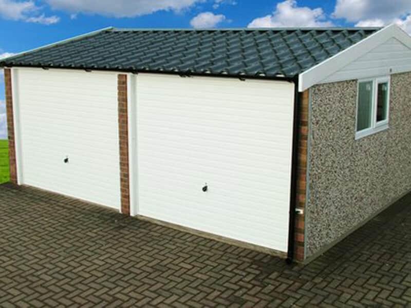 GSG Double Doored Apex 90 Concrete Garages