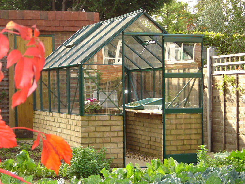 DWARF-WALL-6'WIDE greenhouse
