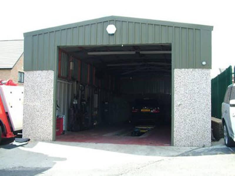 Highliner building for M O T garage use