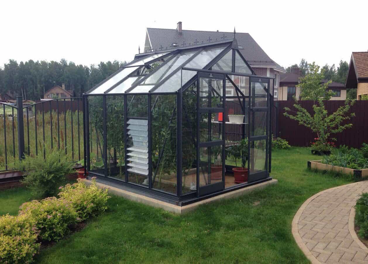Titan 600 8'X6' PC graphite greenhouse