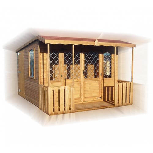 double fronted-pent-summerhouse