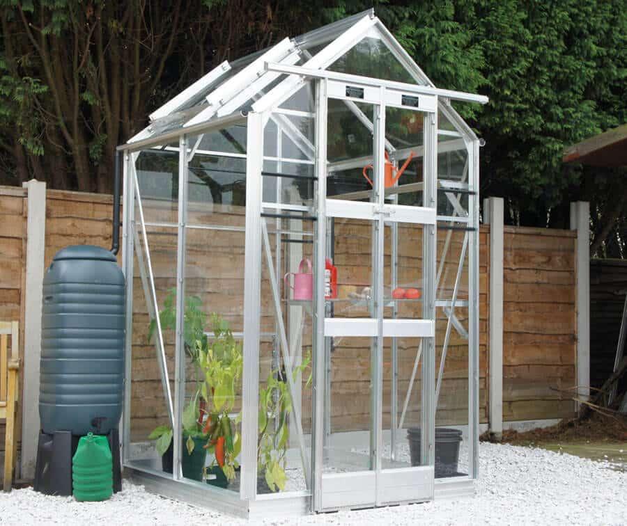 Small Aluminium greenhouse - four-three-maxim