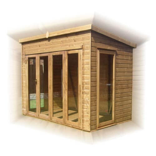 GSG Timber pent-summerhouse-tri-folding